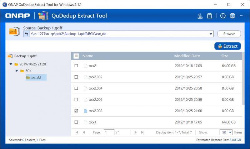 QuDedup Extract Tool