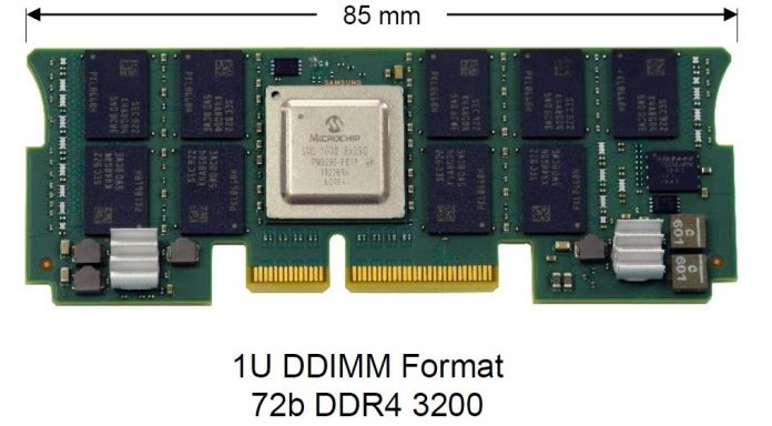 DDIMM существенно компактнее классических модулей памяти