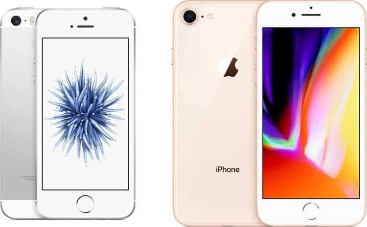 iPhone SE и iPhone 8