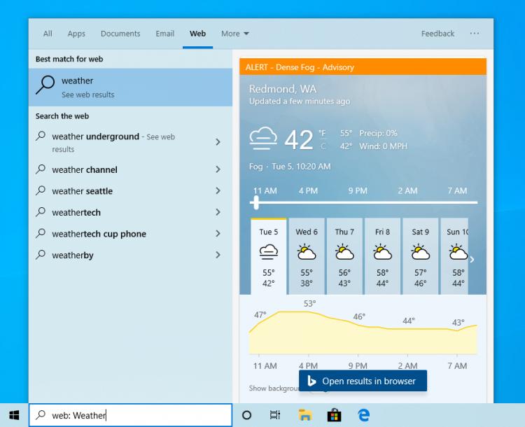 В Windows 10 тестируют новые возможности поиска