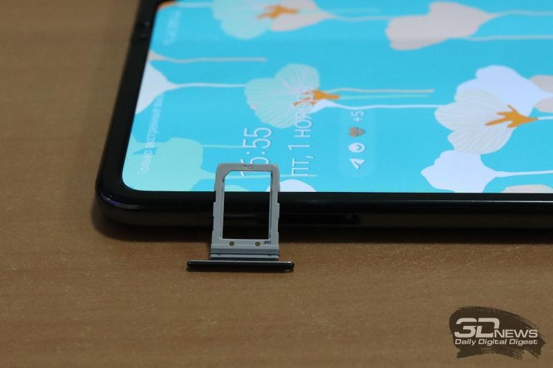 Samsung Galaxy Fold, слот для единственной карточки стандарта nano-SIM