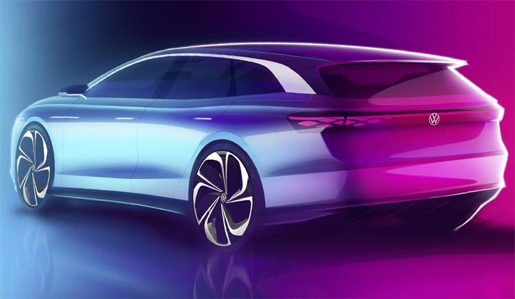 "Volkswagen ID. Space Vizzion: электрический универсал с запасом хода почти 600 км"""