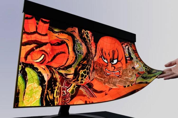 Sharp и NHK представили первый в мире 30-дюймовый гибкий OLED с разрешением 4K