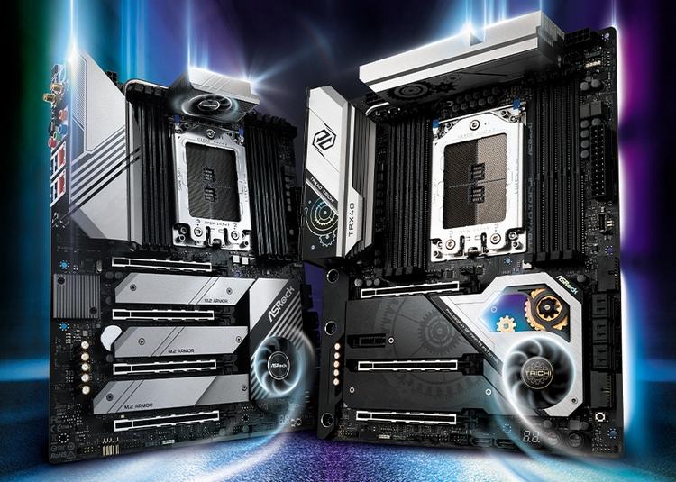 Слева — TRX40 Creator, справа — TRX40 Taichi