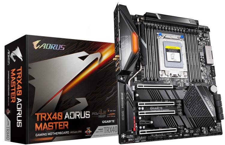 "Gigabyte представила четыре материнские платы на чипсете AMD TRX40"""