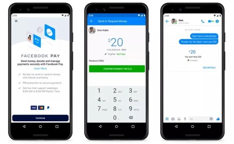 Facebook Pay – новая платёжная система для Instagram, WhatsApp и Facebook