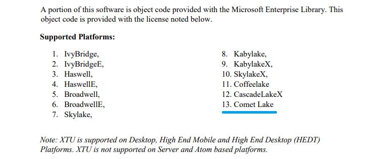 """Обновление утилиты Intel XTU говорит о близости анонса процессоров Comet Lake"""""""