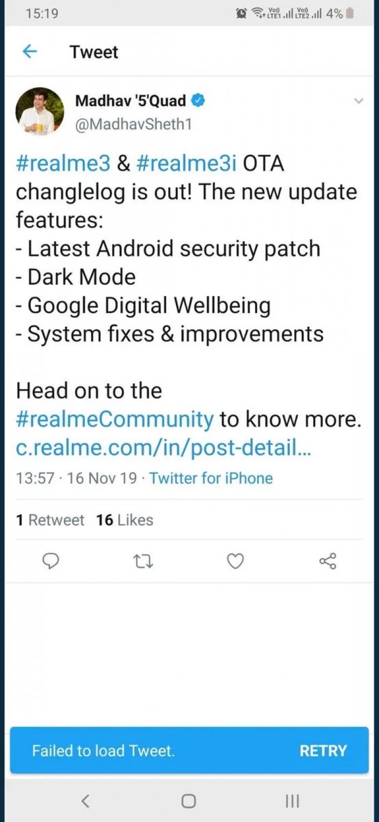 """Директор Realme продемонстрировал, что пользуется iPhone"""""""