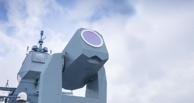 Пример боевой лазерной установки на корабле
