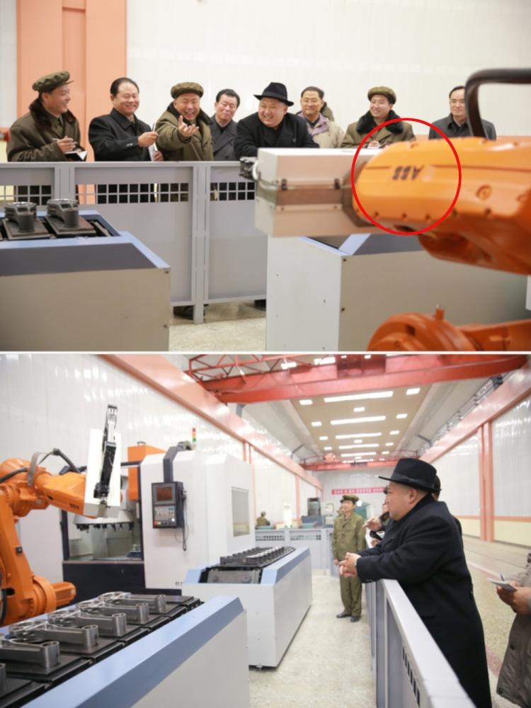 """На заводе в Северной Корее замечены роботы швейцарской фирмы ABB"""""""