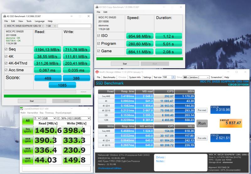 WDC PC SN520 SDAPNUW-128G-1006