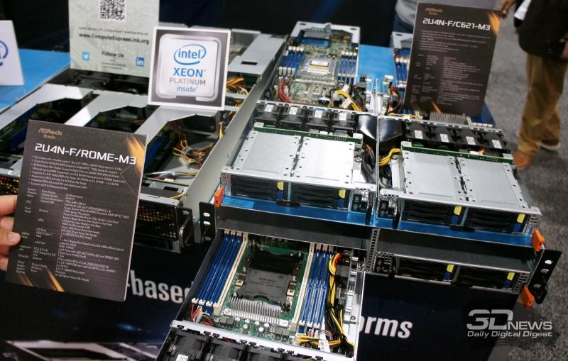 2U4N-F. Выдвинут узел на базе Xeon Scalable