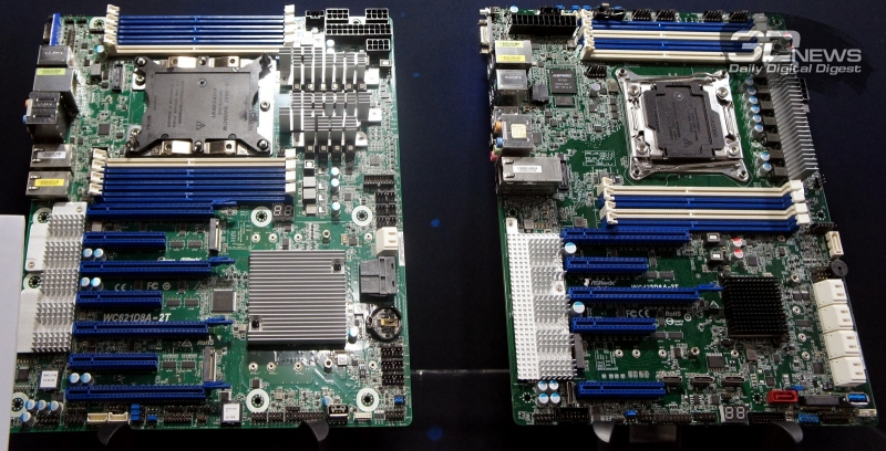 WC621D8A-2T (слева) и WC422D8A-2T: для рабочих станций