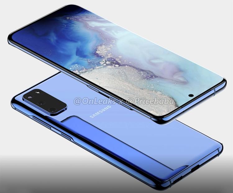 """Смартфон Samsung Galaxy S11e позирует на рендерах: загнутый дисплей и тройная камера"""""""