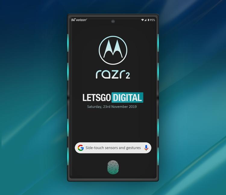 """Гибкий смартфон Motorola razr 2 может получить систему бокового управления Side-Touch"""""""