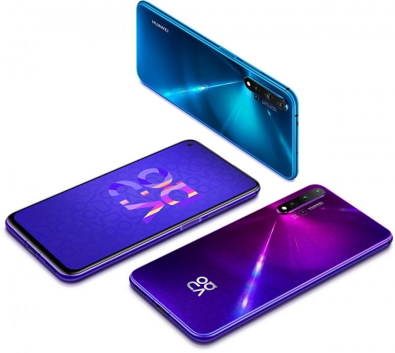 Варианты расцветки Huawei nova 5T