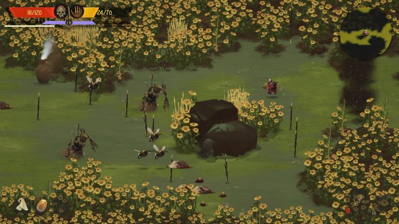 Большая часть игры — подобные коридоры, только стены сменяются: то подсолнухи, то деревья, то ледяные скалы