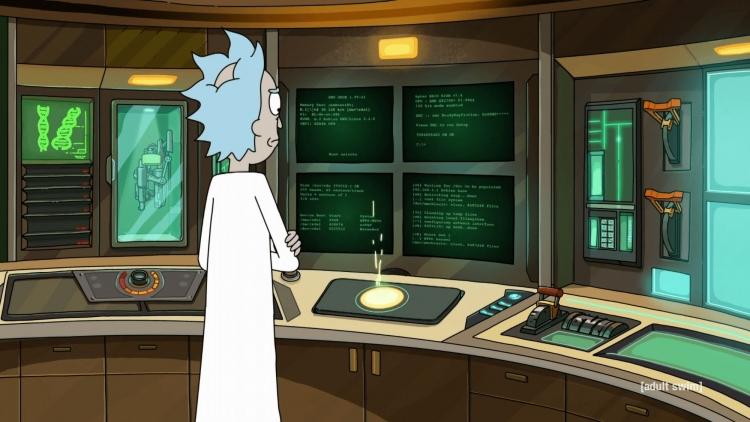"""Герой мультсериала «Рик и Морти» использует 128-бит ЦП AMD и 3 584 825 Тбайт ОЗУ"""""""