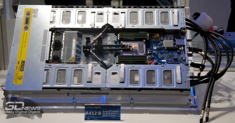Сервер NEC A412-8 сочетает в себе SX-Aurora и AMD Rome