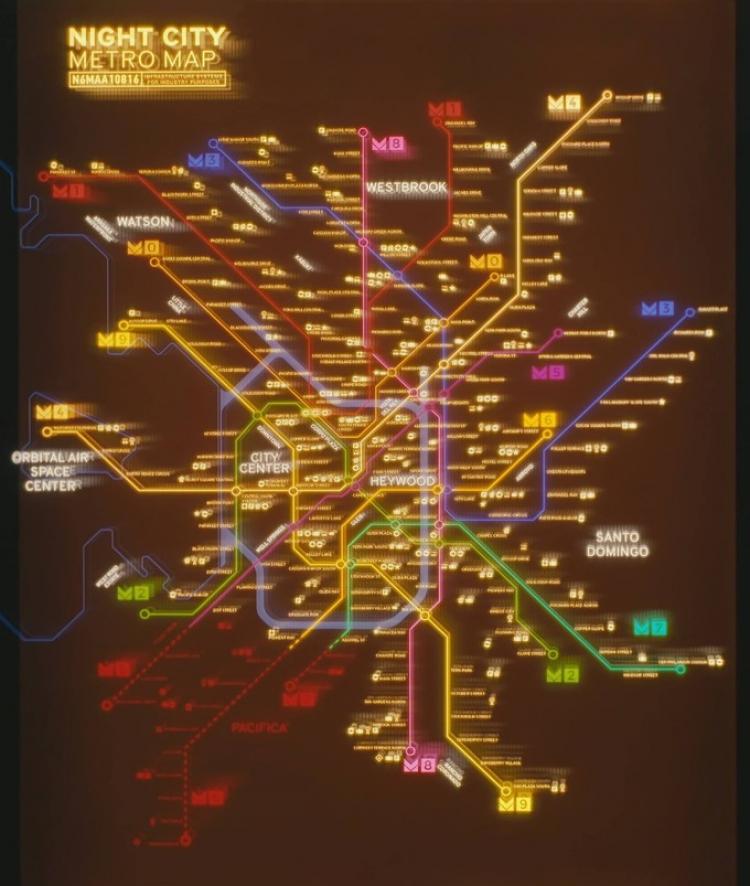 """Благодаря книге по Cyberpunk 2077 в Сети появилась часть карты игрового мира"""""""