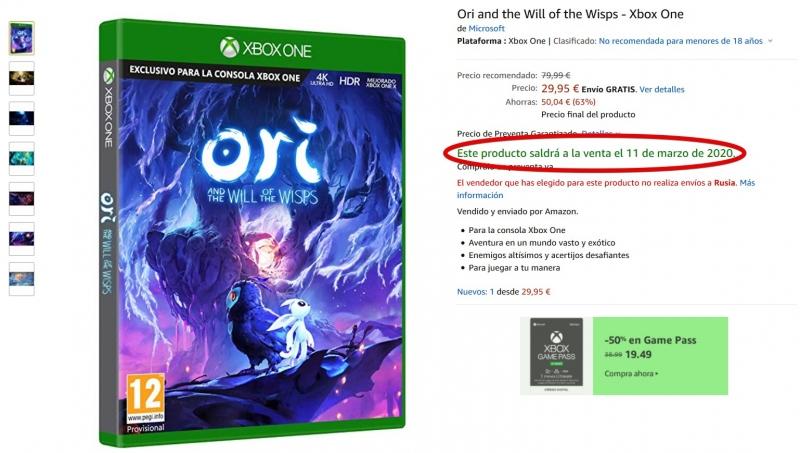 "Слухи: Ori and the Will of the Wisps задержится на месяц"""