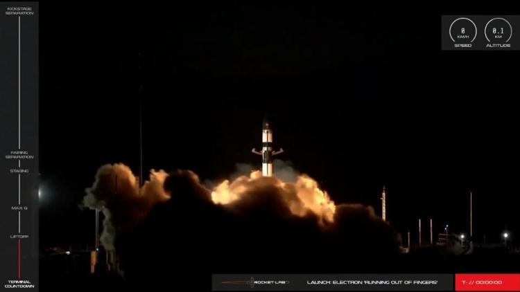"""Rocket Lab доставила 7 спутников на орбиту и выполнила ключевой манёвр для многоразового использования ракеты"""""""