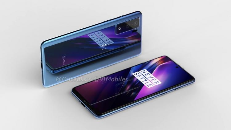 """Утекшие рендеры OnePlus 8 Lite показали сходство с дизайном флагмана Samsung Galaxy S11"""""""