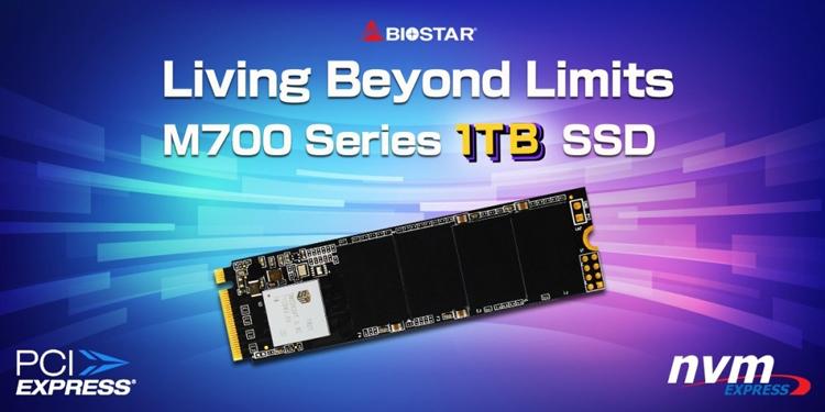 "Новый SSD-накопитель Biostar M700 формата М.2 вмещает 1 Тбайт данных"""