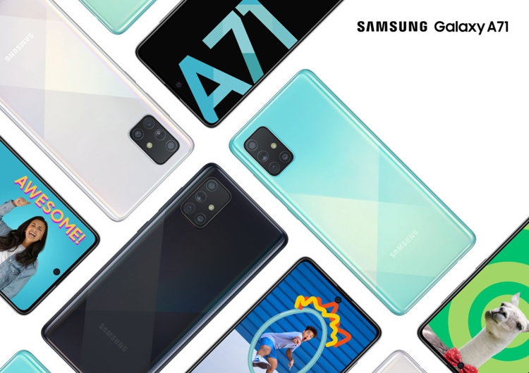 "Samsung Galaxy A71: смартфон с экраном Infinity-O, квадрокамерой и чипом Snapdragon 730"""