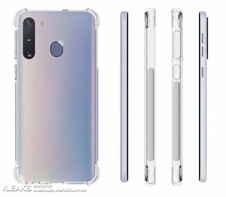 """Смартфоны Samsung Galaxy A01 и A21 позируют в защитных чехлах"""""""