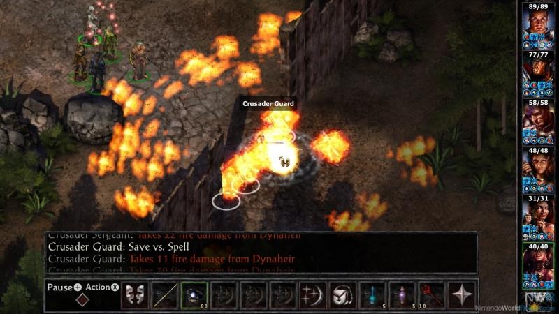 Во время боя Baldur's Gate превращалась в тактическую стратегию