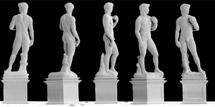 Медная миниатюра статуи Давида выстотой 1 мм, отпечатанная на 3D-принтера (Giorgio Ercolano, Exaddon))