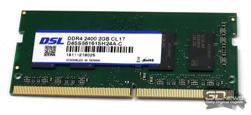 Модуль оперативной памяти DSL DDR4-2400 2 Гбайт