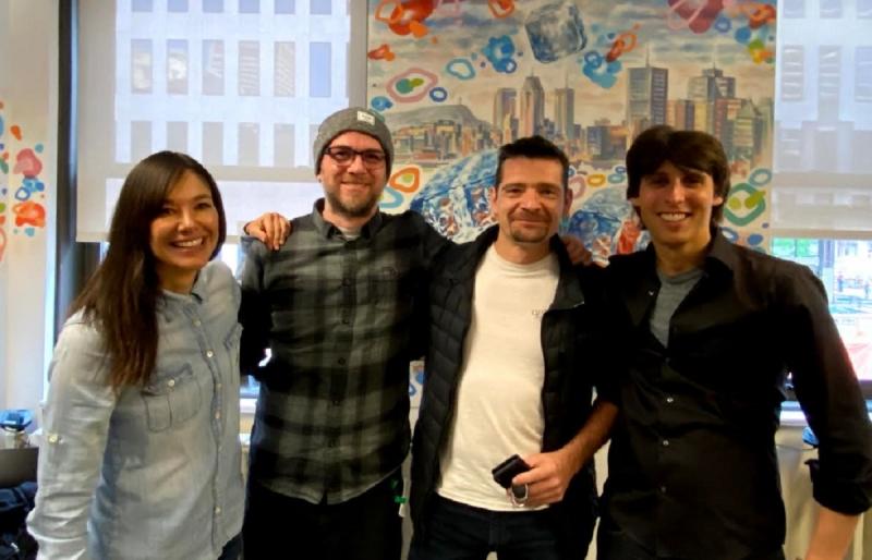Слева направо: Джейд Реймонд, Алекс Хатчинсон, Себастьян Пюэль и Рид Шнайдер
