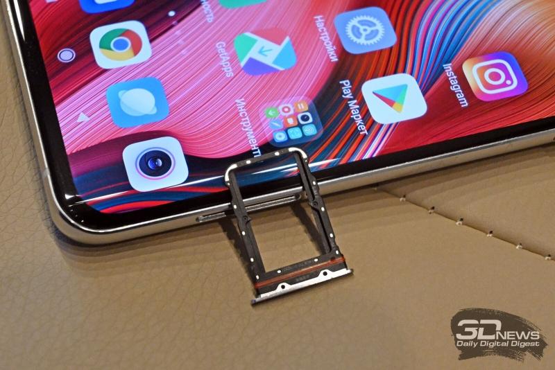 Xiaomi Mi Note 10, слот для SIM-карт