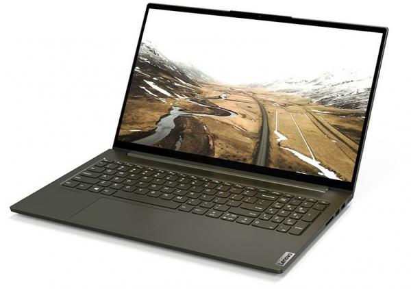 Полностью металлический ноутбук Yoga Creator 7 в фирменном цвете Dark Moss