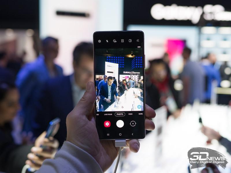 Съемка на Samsung Galaxy S10 Lite