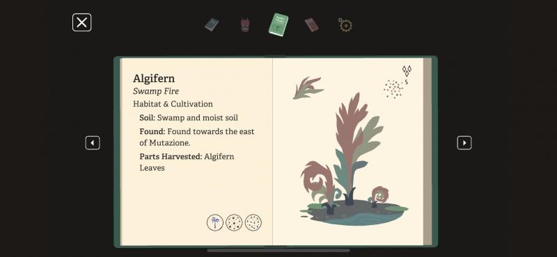 Встроенный в игру определитель воображаемых растений — нет, даже я его не прочитал целиком