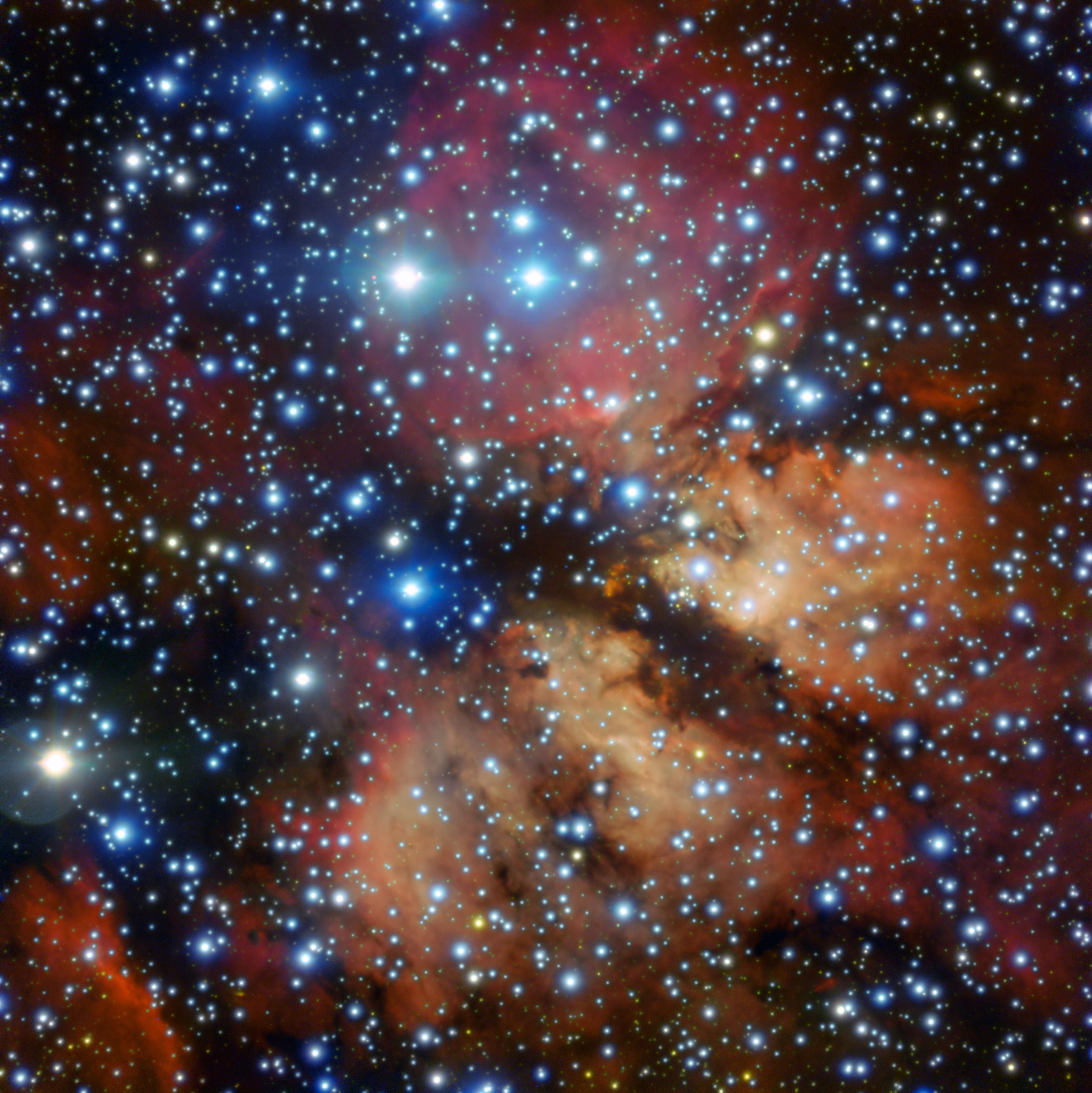 новые картинки звезды образуется много