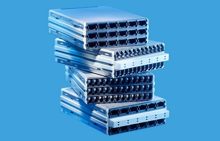 Кассеты для R&M Netscale. Порты расположены более плотно
