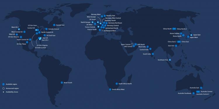 Глобальная инфраструктура Azure