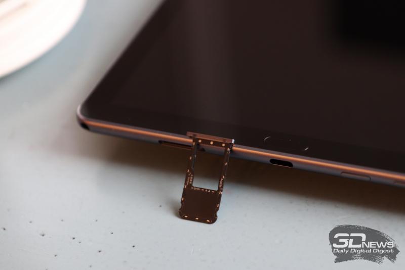Huawei Mediapad M6 10.8, слот для карты памяти microSD