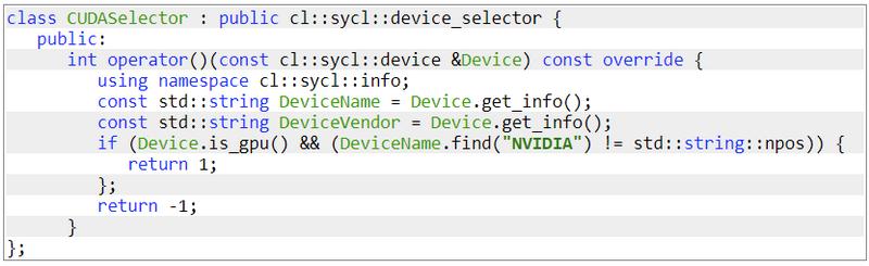 Пример выбора устройства на SYCL
