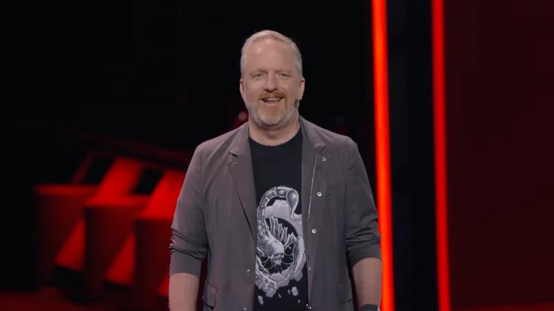 Род Фергюссон на пресс-конференции Microsoft в рамках E3 2019