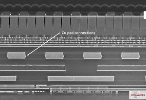 3D-стек матрицы Sony CIS на логику в сборке IMX260 с помощью DBI