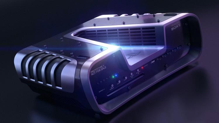 Визуализация прототипа консоли PS5 из набора для разработчиков