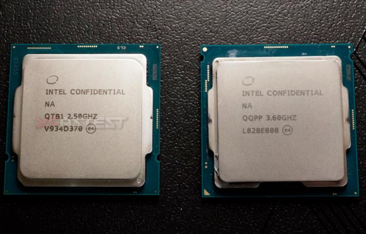Слева — Core i9-10900, справа — Core i9-9900KS