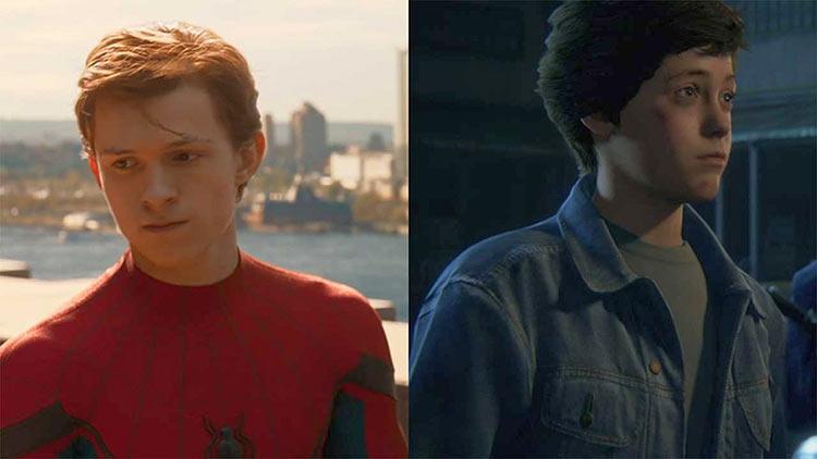 Том Холланд в роли Человека-паука и молодой Дрейк