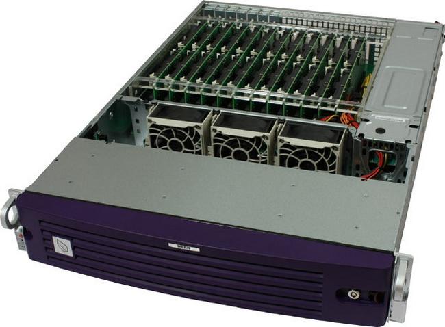 Типичный дизайн сервера на базе процессоров Calxeda