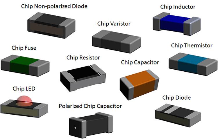 Дискретные элементы для поверхностного монтажа